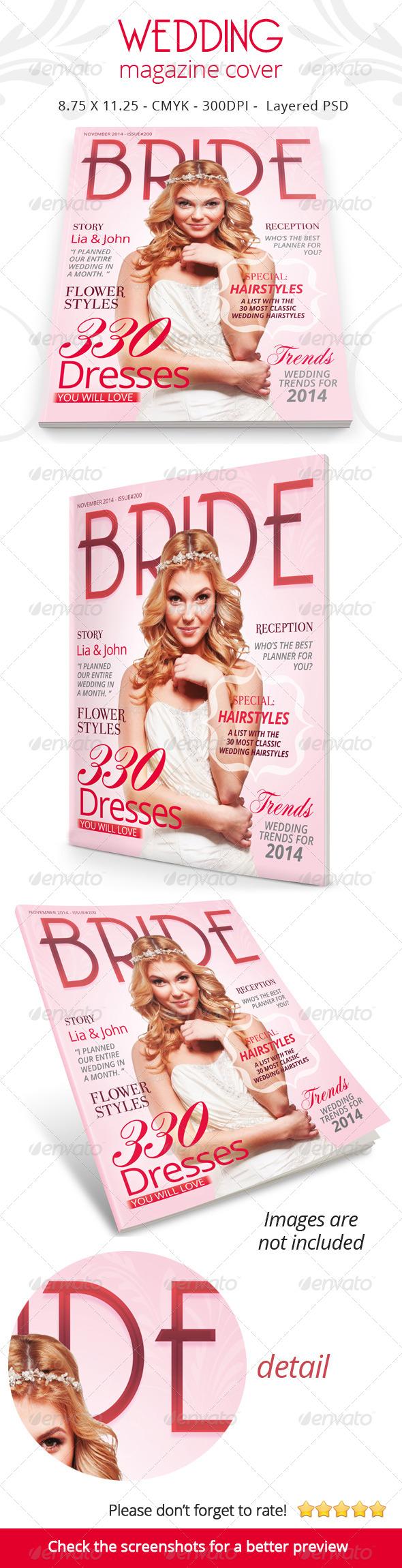 GraphicRiver Wedding Magazine Cover 6562420
