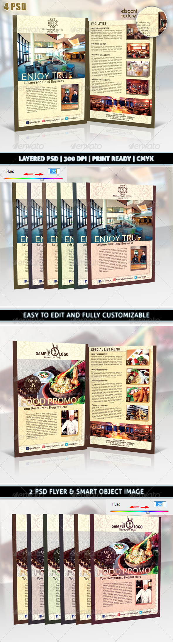 GraphicRiver Hotel or Restaurant Elegant Promotion Flyer 6554086