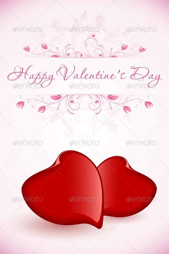 GraphicRiver Happy Valentine s Day Floral Card 6562843