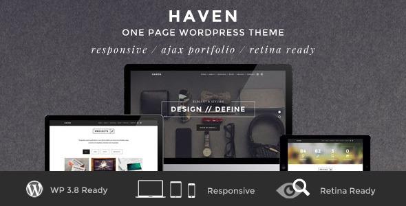 ThemeForest Haven Elegant One Page WordPress Theme 6562851