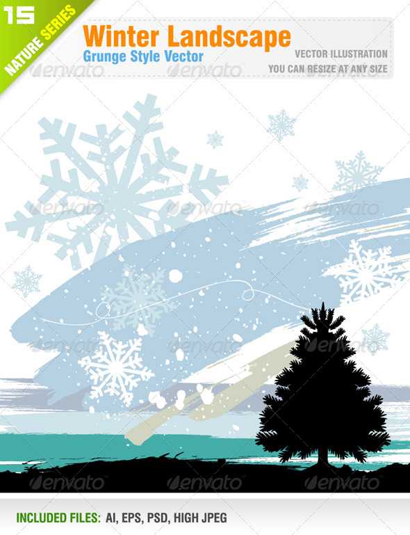 GraphicRiver Winter Landscape 6562993