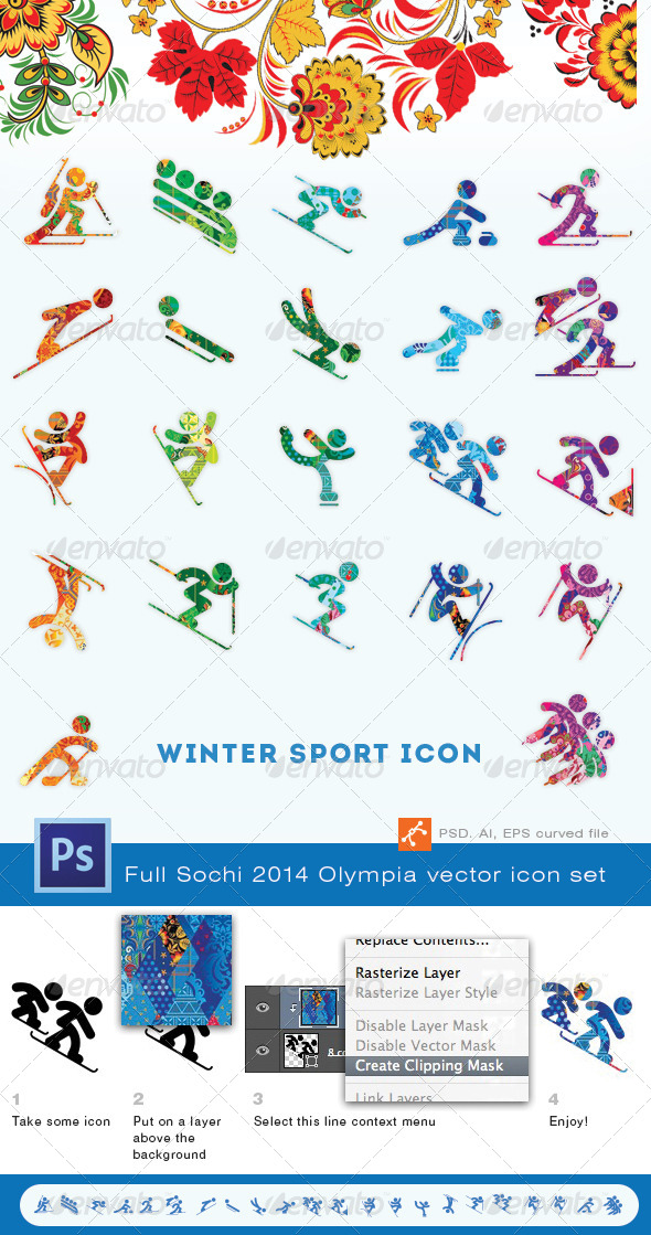 GraphicRiver Winter Olympics Sports Icon Set 6559947