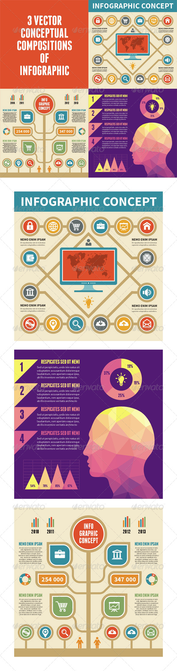 GraphicRiver 3 Infographic Concept for Presentation 6563226