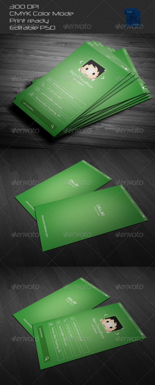 GraphicRiver App Interface Style Business Card 6563270