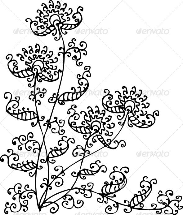 GraphicRiver Floral Vignette CXXXII 6563434