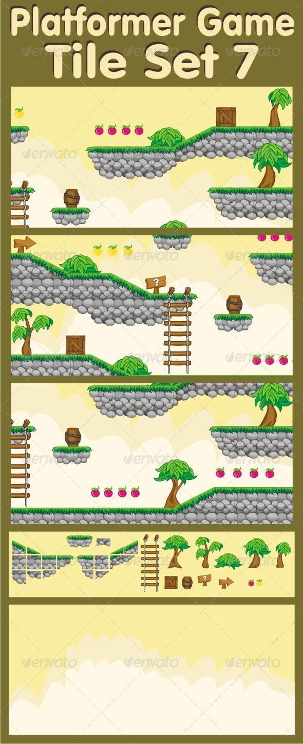 GraphicRiver Platformer Game Tile Set 7 6563436