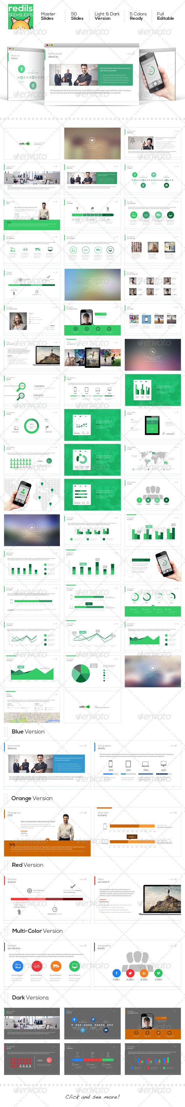 GraphicRiver REDILS PowerPoint Template 6542327