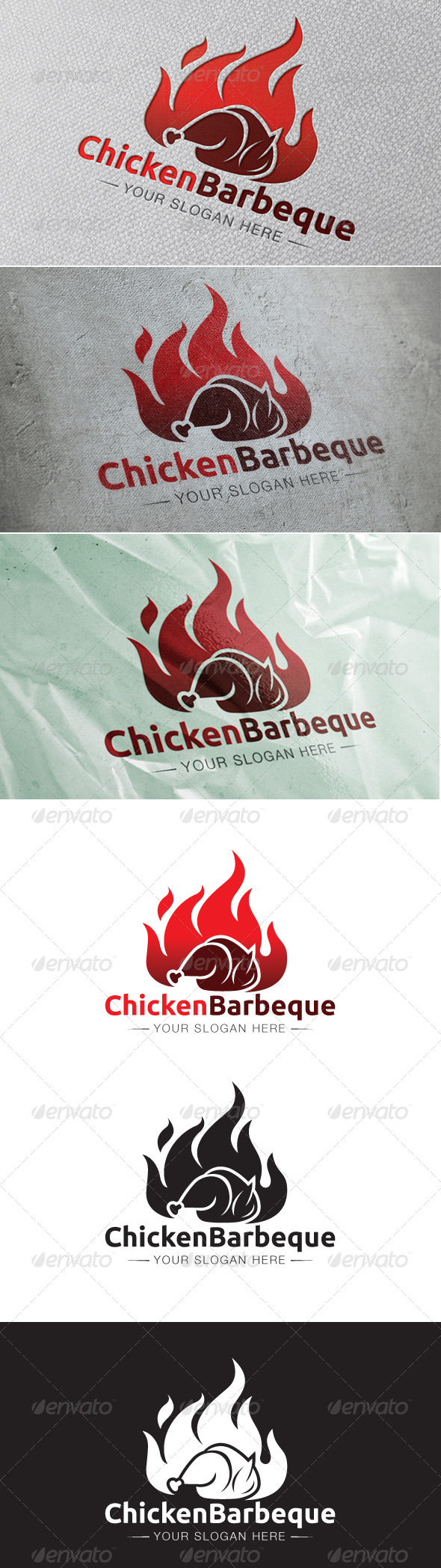 GraphicRiver Chicken Barbeque Logo Template 6563503