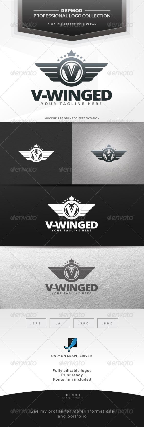 GraphicRiver V-Winged Logo 6563582