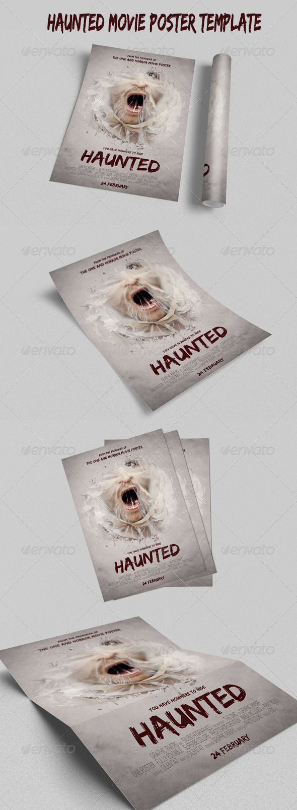 GraphicRiver Haunted Movie Poster Template 6563657