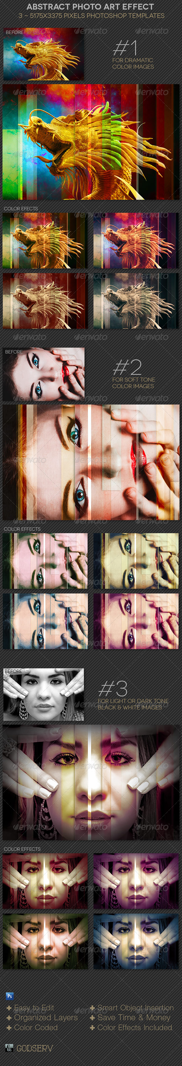 Abstract Photo Effect Template - Artistic Photo Templates