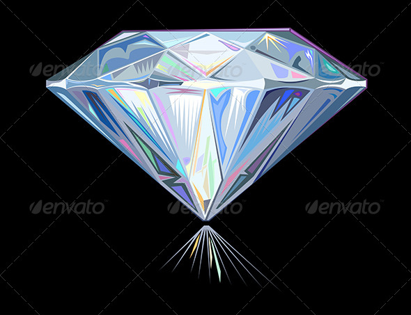 GraphicRiver Diamond on Black 6563844