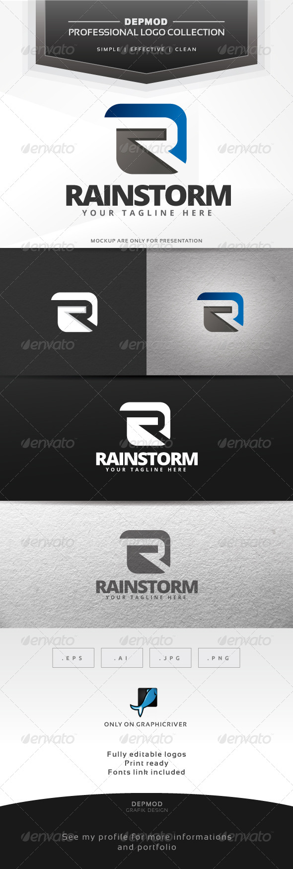 GraphicRiver Rainstorm Logo 6563967