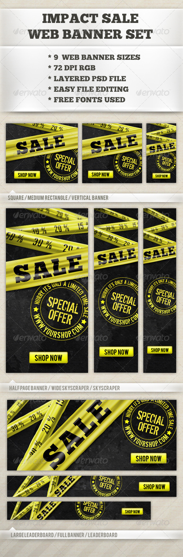 GraphicRiver Impact Sale Banner 6563969