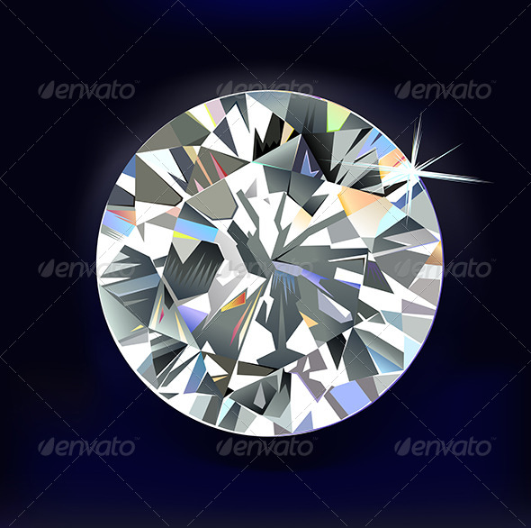 GraphicRiver Diamond on Dark-Blue 6563968