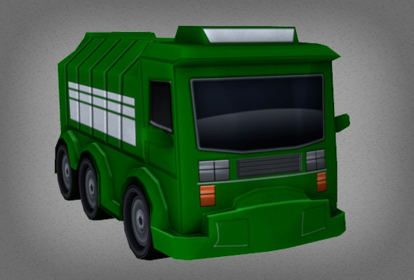 Toon Garbage Truck - 3DOcean Item for Sale