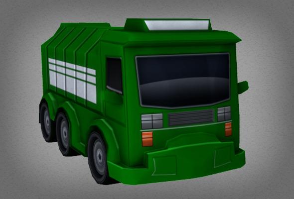 3DOcean Toon Garbage Truck 6564150