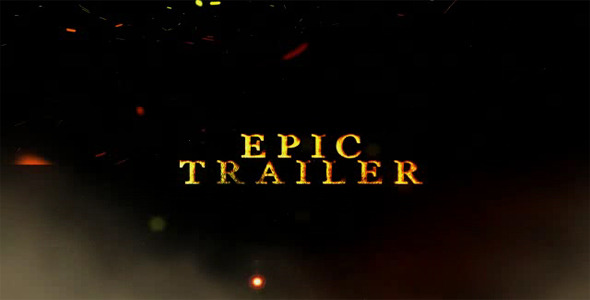 After Effects Project - VideoHive Epic Particle Trailer 688177