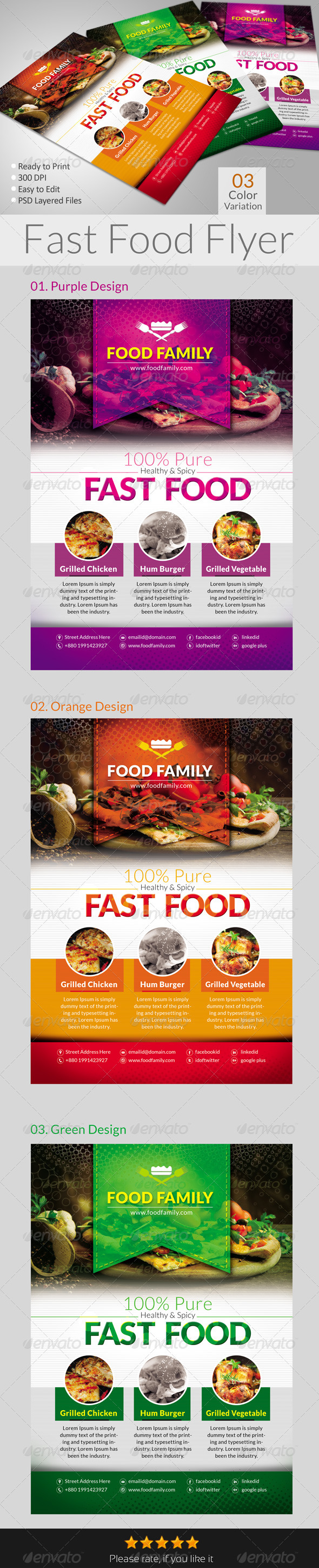 GraphicRiver Fast Food Flyers 6550291