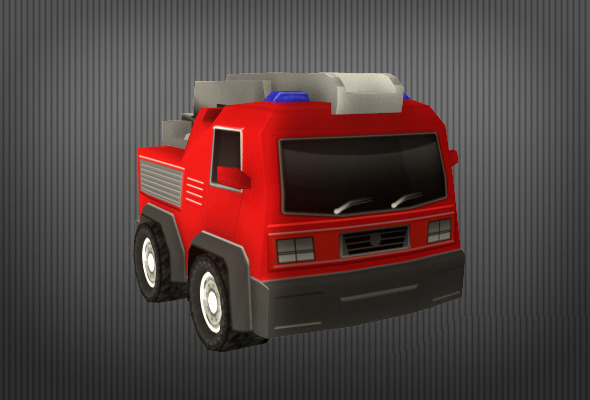 Firefighter Truck - 3DOcean Item for Sale