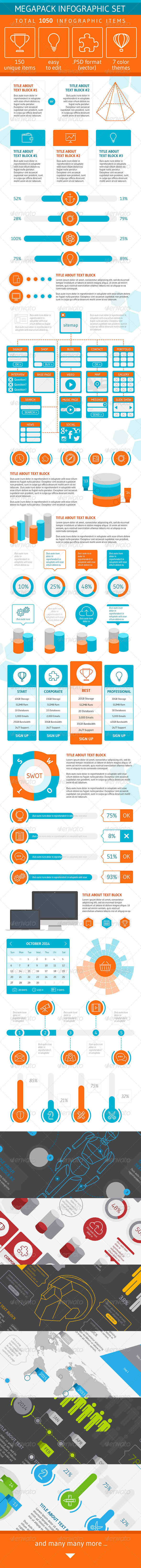 GraphicRiver Megapack Infographic Set 6564598