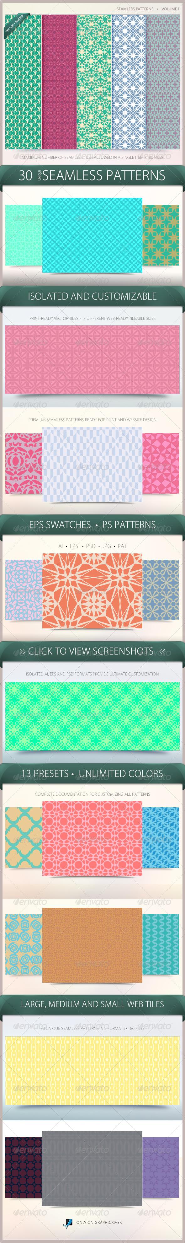 GraphicRiver Seamless Patterns Volume 1 6564604