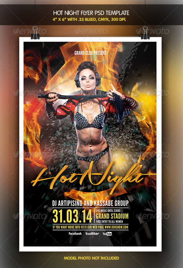 Hot Party | Flyer Template - Clubs & Parties Events