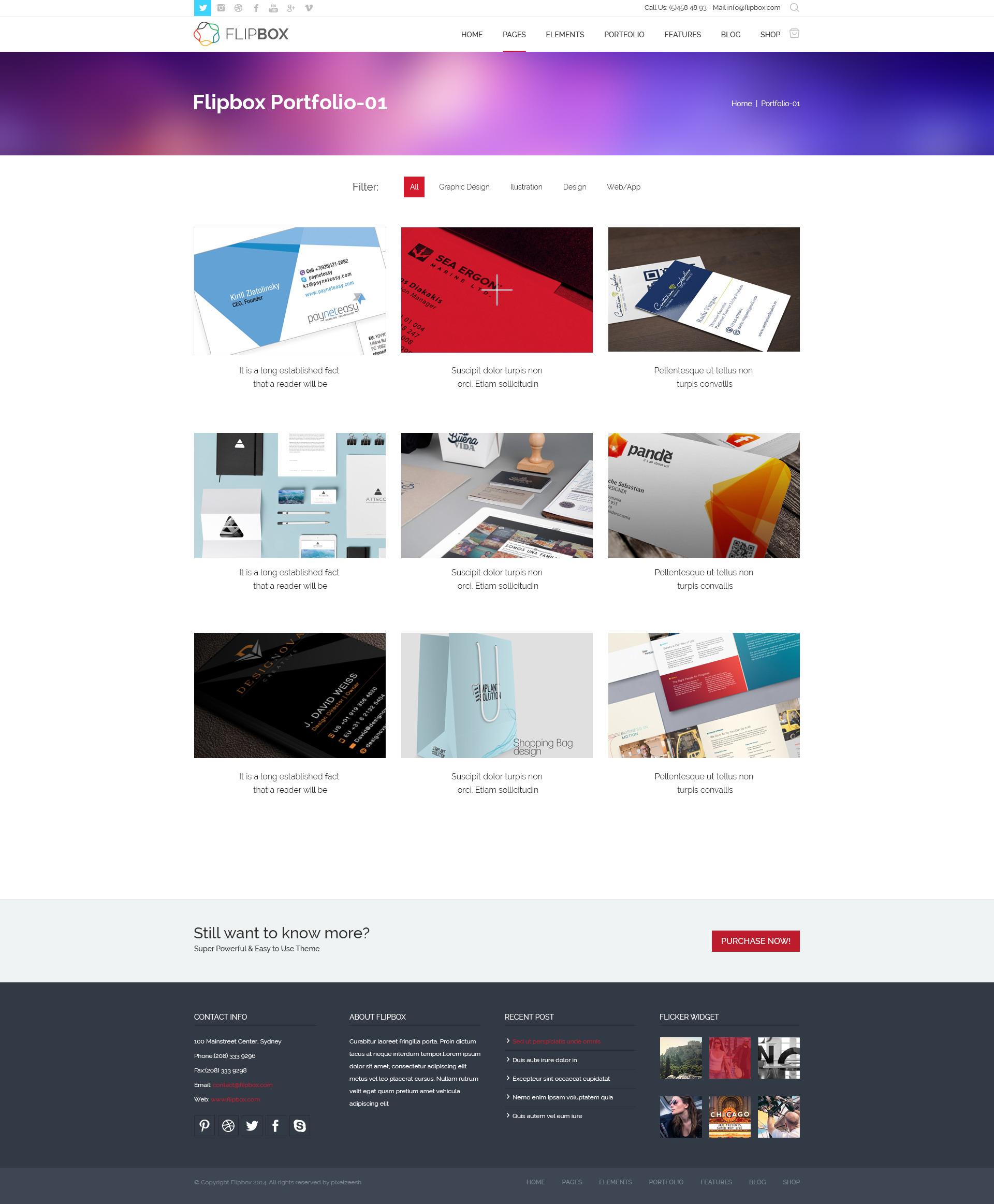 FlipBox-PSD Theme