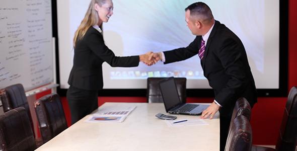 Successful Boardroom Meeting Hand Shake