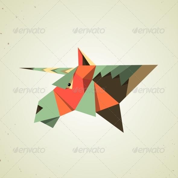 GraphicRiver Origami Unicorn 6567425