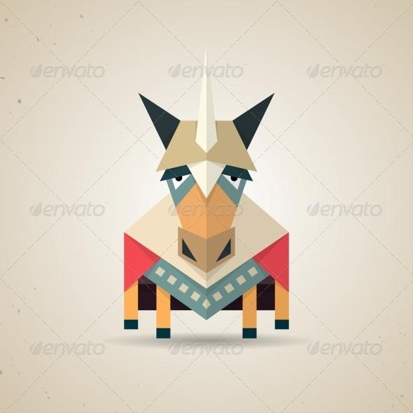 GraphicRiver Origami Unicorn 6567452