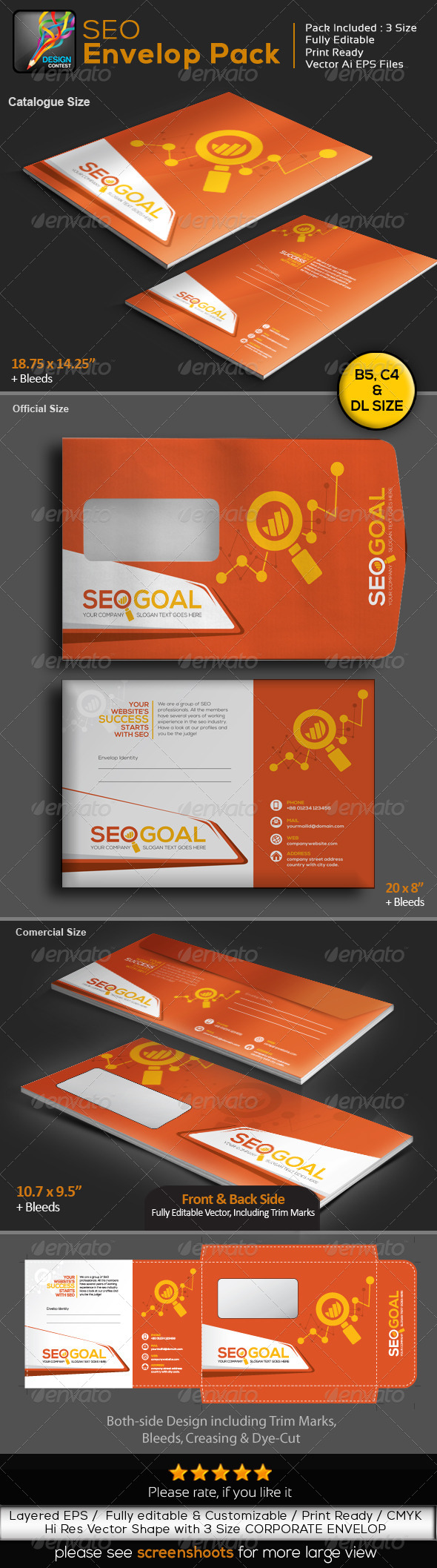GraphicRiver SEO Goal Search Engine Optimization Envelope Pack 6567613