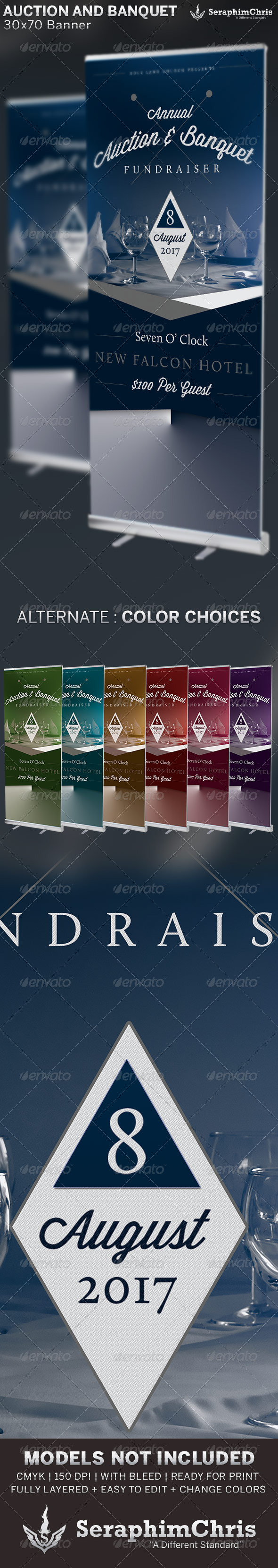 GraphicRiver Auction and Banquet Fundraiser Banner Template 6567692