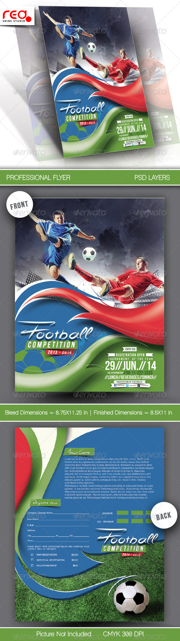 GraphicRiver Football Competitions Flyer Template 6567710