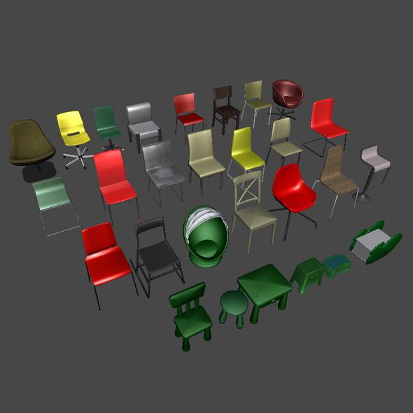3DOcean Chairs 6567800