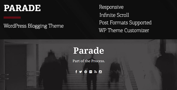 ThemeForest Parade WordPress Blogging Theme 6567799