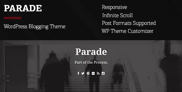 Parade - WordPress Blogging Theme - Personal Blog / Magazine