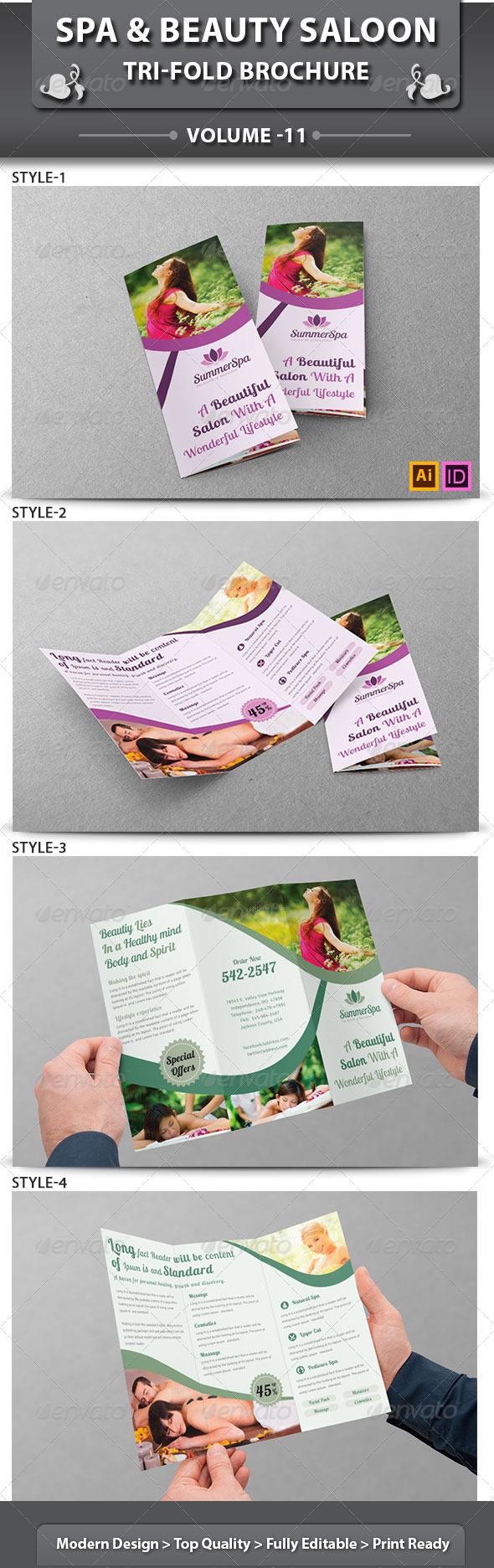GraphicRiver Spa & Beauty Saloon Tri-Fold Brochure Volume 11 6568045