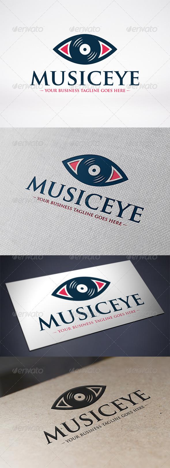 Music Eye Logo Template