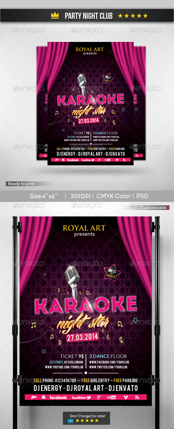 GraphicRiver Karaoke Party Flyer 6568367