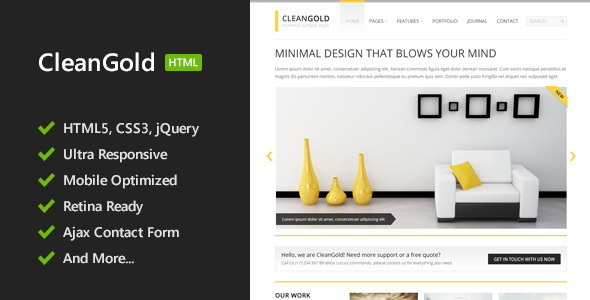 CleanGold - HTML5 Site Template