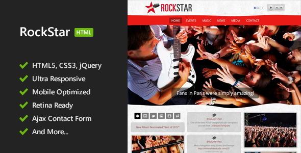RockStar - HTML5 Responsive Template