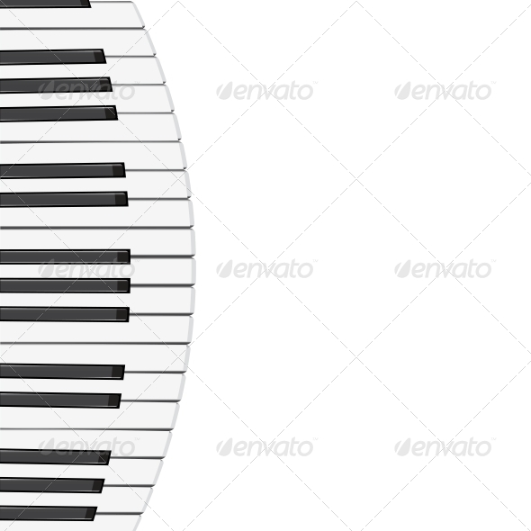 GraphicRiver Piano Keys Background 6568861