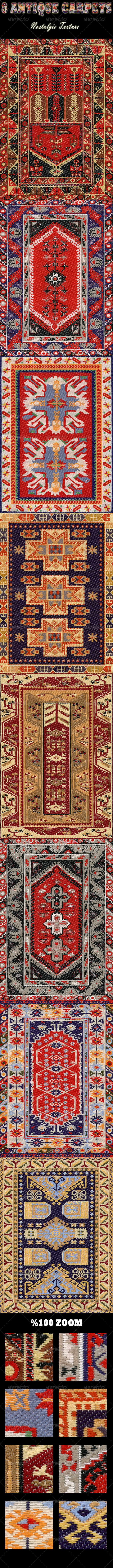 GraphicRiver 8 Antique Carpets Nostalgia Texture 6568878