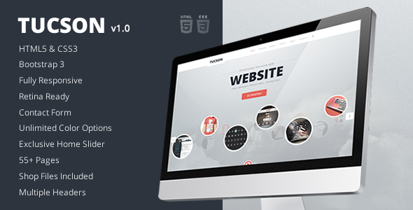 Preview.  large preview Tucson   Responsive HTML5 Template (Business)
