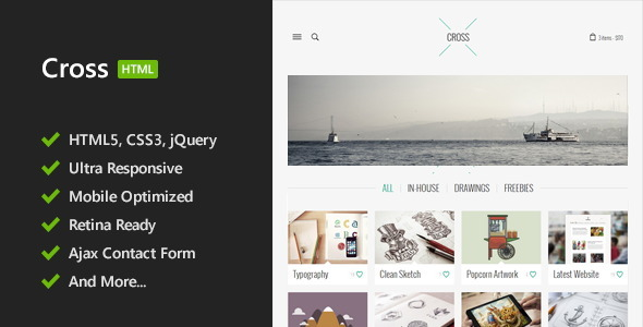 Cross - Minimal HTML5 Template