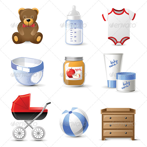 GraphicRiver Baby Icons 6569503