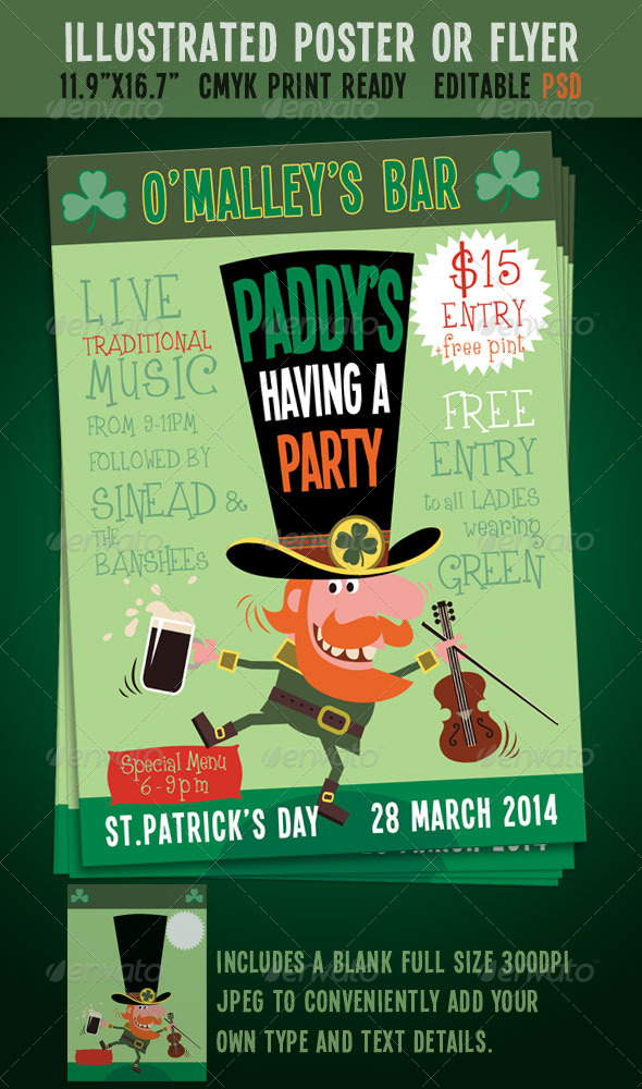 GraphicRiver St Patrick s Day Party Event Poster Flyer 6559120