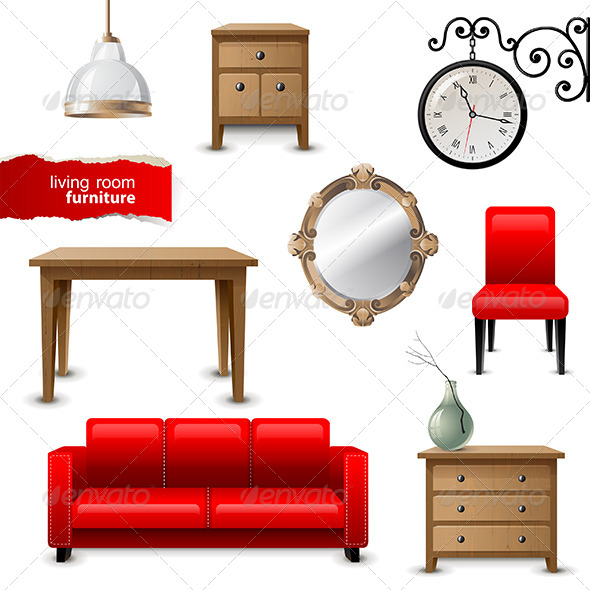 GraphicRiver Living Room Furniture 6569541