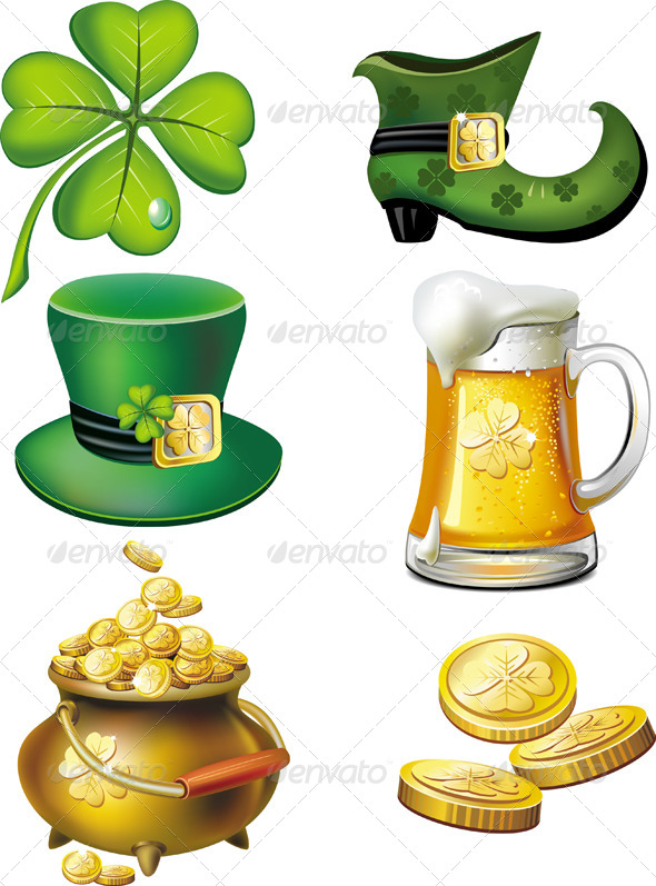 GraphicRiver St Patrick s Day Icons Set 6569584
